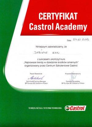 Certyfikat Castrol
